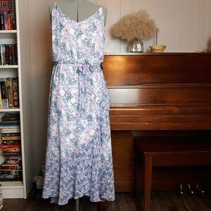 Vince Camuto floral ruffle midi dress